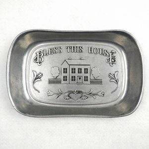 Wilton Armetale Bless This House Pewter Bread Tray